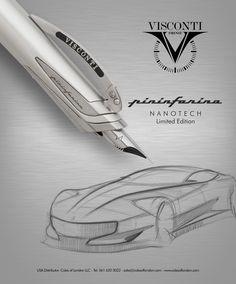 Visconti Pininfarina Nanotech retractable nib fountain pen