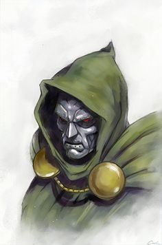 Doctor Doom by Carsten Biernat Comic Book Characters, Marvel Characters, Comic Character, Comic Books Art, Comic Art, Book Art, Best Villains, Marvel Villains, Marvel Comics Art