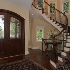 stair case entries | 121 spiral staircase Traditional Chicago Entry Design Photos