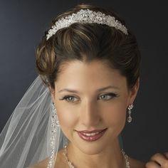 Princess Cut Crystal and Rhinestone Wedding Tiara! Gorgeous! affordableelegancebridal.com