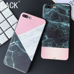 Fashion Geometric Splice Pattern Marble Stone Case For iphone7 Fundas For iphone 7 6 6S Plus phone cases Newest Soft Back Cover