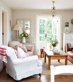 5 Spring Updates For Your Home   rebecca boyce interiors, slipcovered chairs, neutral living space