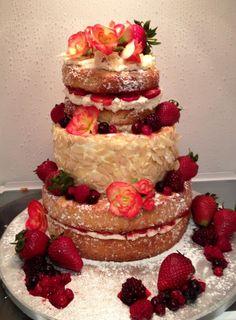 Fresh Cream & Strawberry Birthday Cake for my daughter