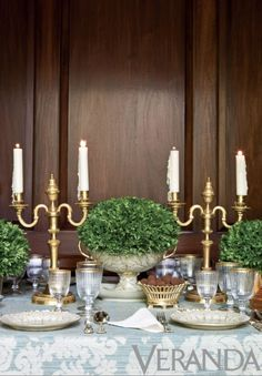 Fresh Greens on the table - Fine Living - Traditional Style - Carolyne Roehm - Traditional Style - Shades of Green