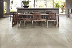 This classic very pale grey Cumbrian slate is reproduced in a large format Italian porcelain and is perfect for large rooms or bathrooms.  #italian #porcelain #stone
