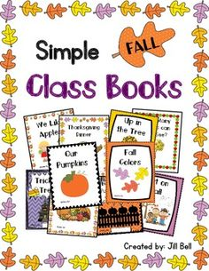 This is a set of ten class collaborative books all with a fall theme. They contain simple sentence patterns, simple sight word vocab & are quick and simple to prepare. Class Library, Class Books, Kindergarten Activities, Kindergarten Teachers, Preschool Projects, Teaching Kindergarten, Fun Fall Activities, September Activities, First Grade Spelling
