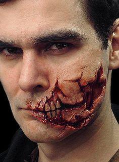 Maquillaje de Halloween, máscaras de Halloween y efectos especiales Prótesis :: Ripped Face protésicos -