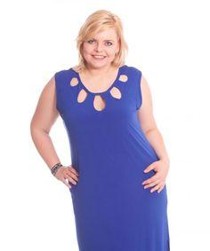 Blaues Party Kleid mit Cut-Outs.    Jetzt im Shop erhältlich:  www.designforyou.at/shop