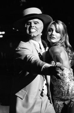 Jim Carrey and Cameron Diaz from the movie Mask (1994).
