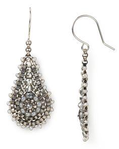Miguel Ases Silver Oceans Beaded Teardrop Earrings | Bloomingdale's