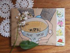 Hot snail-mail tea
