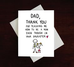 Funny Card for Dad Father's Day how to be a man from by MAJIKATZ