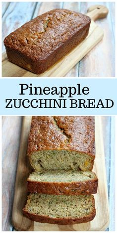 Nutritious Snack Tips For Equally Young Ones And Adults Pineapple Zucchini Bread Recipe From Via Recipegirl Tasty Bread Recipe, Zucchini Bread Recipes, Loaf Recipes, Dessert Recipes, Desserts, Zucchini Pineapple Bread, Zuchinni Bread, Cooking Recipes, Zucchini Bread Muffins
