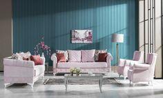 Canapea Extensibila 3 locuri Kosem Rose K1 #homedecor #livingroom #inspiration Kos, Curtains, Living Room, Inspiration, Home Decor, Biblical Inspiration, Blinds, Decoration Home, Room Decor