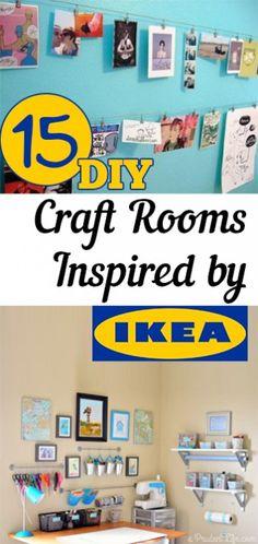 Craft rooms, craft room inspiration, craft room design, popular pin, DIY craft room, IKEA, easy craft room updates.