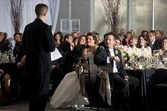 Chrome tent at Harley Davidson - Wedding, uplighting, moody and dramatic reception decor light - Milwaukee wedding photography