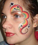 Rainbow Face Art Painted By Natasha Wood