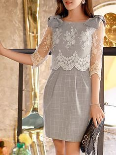 The world's most-coveted and unique designer apparel - Sexyplus everyday. Cheap Dresses, Cute Dresses, Vintage Dresses, Short Dresses, Girls Dresses, Casual Formal Dresses, Elegant Dresses, Iranian Women Fashion, Party Frocks