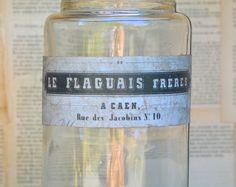 Vintage French Jar with original label