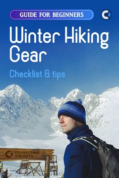 A brief list of recommended winter hiking gear & clothing for beginners. The guide also includes the list of winter outdoor challenges & suggestions how to deal with them, some general winter hiking tips & free gear checklist. If you are just starting to plan your hikes in the sub-zero temperatures, this article is just for you. Despite its nature, this guide will be useful to the people, who want to double-check their gear & clothing as well. #Winter #Hiking #Outdoors #ActiveLife #Checklist Packing Lists, Packing Tips For Travel, Travel Hacks, Travel Essentials, Hiking Gear List, Hiking Tips, Winter Hiking, Winter Travel, Travel Activities