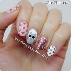 MissJJan's Beauty Blog ♥: Cute Owl Nails
