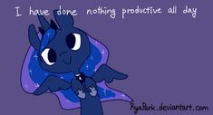 Luna has done nothing productive all day (animated)