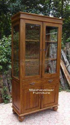 lemari Hias Minimalis Jati • Max Havelaar Furniture • Indonetwork.co.id