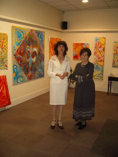 Jasmina Vladimirova, Jasmina Vladimirova et Françoise Gay, Exposition de Peintures à l'Huile sur toile, Galerie Aktuaryus à Strasbourg 2005 (6)