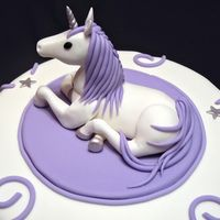 "Cake for an adult who loves unicorns. 10"" cake, topper is fondant.This is beautiful, but can I have a dragon?"