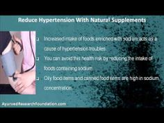 This video describes about natural supplements to reduce hypertension naturally. You can find more detail about Stresx capsule at http://www.ayurvedresearchfoundation.com
