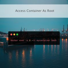 On occasion you might need to access your docker container as root. Using docker exec you can do that fairly easily. Check the link in the bio for more info!