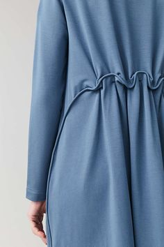 LONG ELASTIC-WAIST DRESS - Light Blue - Dresses - COS Blue Fashion, Womens Fashion, Chinese Style, Chinese Fashion, Sewing Patterns Free, Free Sewing, Light Blue Dresses, Fabric Manipulation, Elastic Waist
