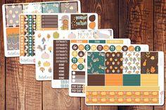 Autumn planner sticker kit #bellarosepaperco #erincondren #plannerstickers  https://www.etsy.com/listing/483294217/autumn-planner-sticker-kit-for-use-in
