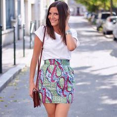 Frilly and colorful skirt - suzie - - Sewing Clothes, Custom Clothes, Diy Clothes, Star Clothing, Diy Vetement, Couture Sewing, African Print Fashion, Mode Inspiration, Mode Style