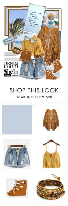 """""""Summer Shorts with SheIn"""" by traceygraves on Polyvore featuring Chan Luu and Elizabeth and James"""