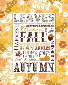 Free Autumn printable; use for PL.