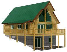 Black Bear Log Home Cabin Kit