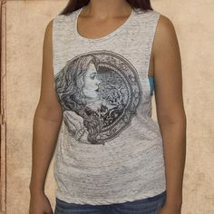 Alice in Wonderland - women's relaxed fit tank - white marble