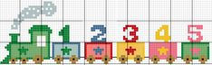 Small Cross Stitch, Beaded Cross Stitch, Cross Stitch Baby, Cross Stitch Designs, Cross Stitch Patterns, Cross Stitch Train, Cross Stitch Numbers, 3d Perler Bead, Learn A New Language