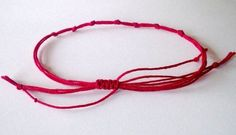 """Red string of fate. People connected by the red thread are destined to always be together, regardless of time, place, or circumstances. This magical cord may stretch or tangle, but it will never break. Red String Of Fate, Red String Bracelet, Anklet Designs, Thread Bracelets, Making Bracelets, Lovers And Friends, Evil Eye Bracelet, Eye Protection, Hamsa Hand"