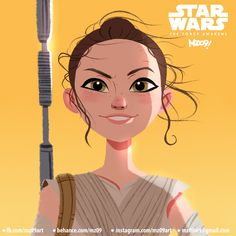 Character Design by Julio CesarJulio Cesar is a Fortaleza Brazil based Character Designer and Illustrator. Character Design by Julio Ce Rey Star Wars, Starwars, Caricature Drawing, Girl Artist, Artist Alley, Animation, Fantasy Women, Character Illustration, Flat Illustration
