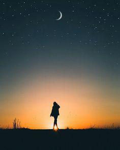 Walking towards the moon..