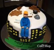 Cake Design For Engineer : Hard Hat Birthday Cake, made for a Civil Engineerx...