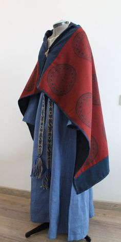 Viking shawl by NornasMystery on Etsy Pattern of the stamp is taken from the findings in Gnezdovo, 10th century.