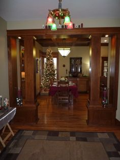 A modern craftsman home done up for the holidays. 2012