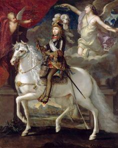 Конный портрет Людовика XIV,1653. Жан Нокре.Ежедневно по утрам король на час-полтора приходил в кабинет Мазарини и терпеливо выслушивал доклады гос-ных секретарей,а если что-то ему было непонятно,спрашивал.По вечерам Людовик присутствовал на засед. Государств.совета и в посл.годы жизни Мазарини председат-вовал на них,особ.когда рассматр.важные вопросы.
