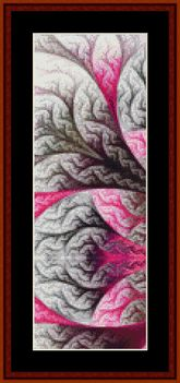 Click to view FREE Fractal counted cross stitch pattern!  For May