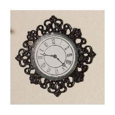 Dolls House 3585 Wall clock black 1:12 for dollhouse NEW! # #DollsHouse