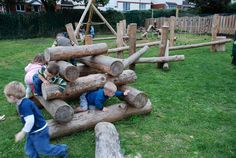 Playground Build & Design | Natural Child Play | Earth Wrights Ltd. This company includes the children in the planning of their natural play space!