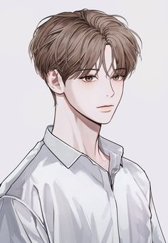 Cool Anime Guys, Handsome Anime Guys, Cute Anime Boy, Anime Art Girl, Manga Art, Manga Anime, Digital Art Anime, Anime Poses Reference, Korean Art